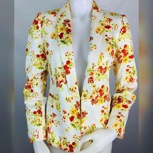 Tahari Floral Hook Latch Blazer
